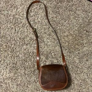 King Ranch Cowhide & Leather Crossbody Purse